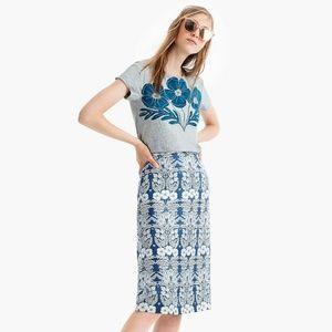 J.Crew X Abigail Borg silk slip skirt